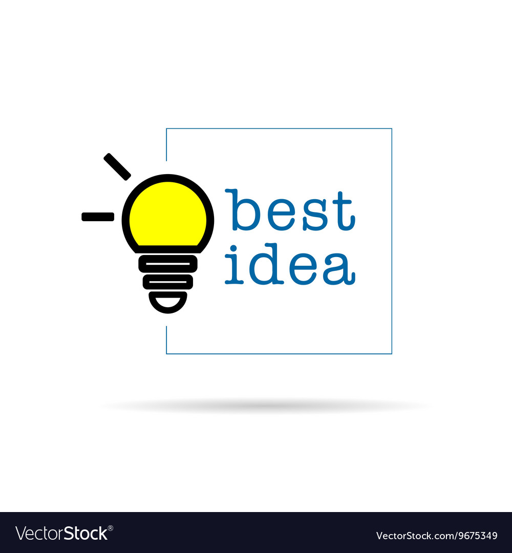 Bulb icon with best idea design vector