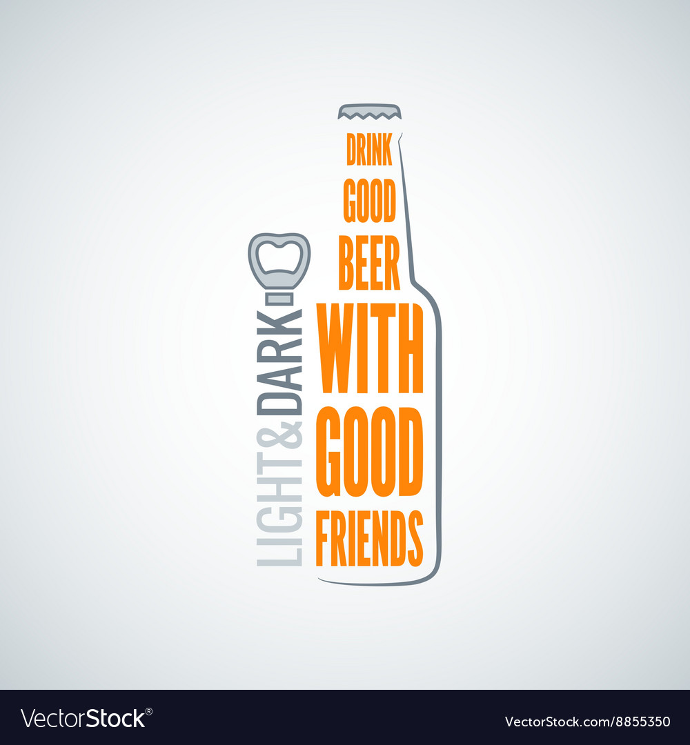 Beer bottle design concept background vector