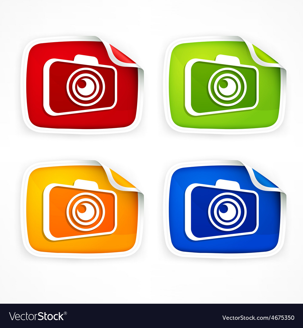 Camera icon colored vector