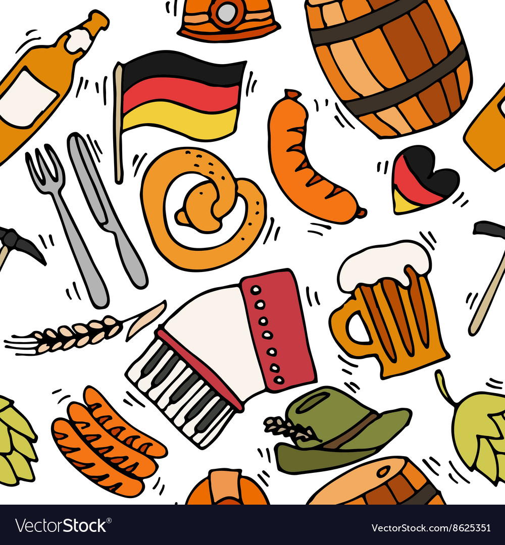 Germany travel pattern vector