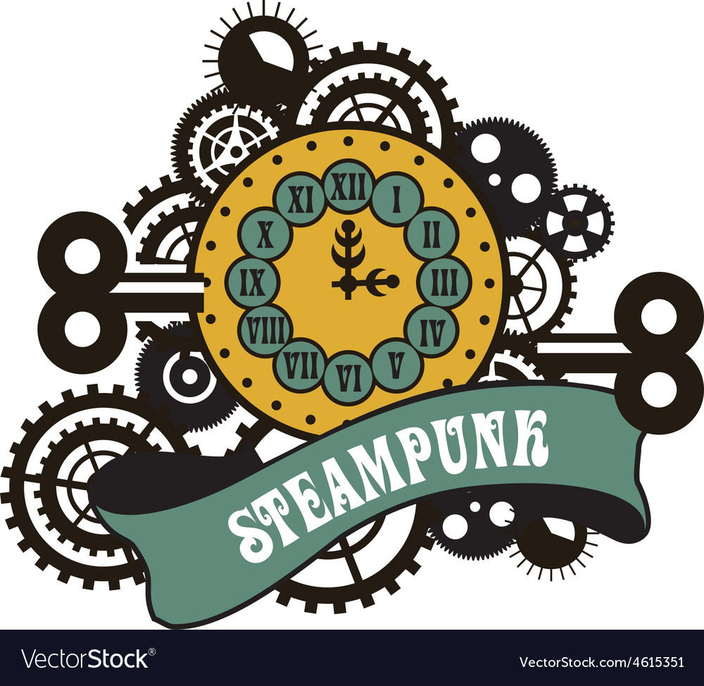 Steampunk mechanical watches vector