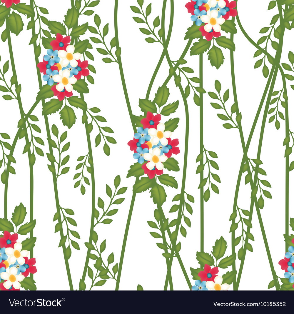 Florals of seamless pattern background vector