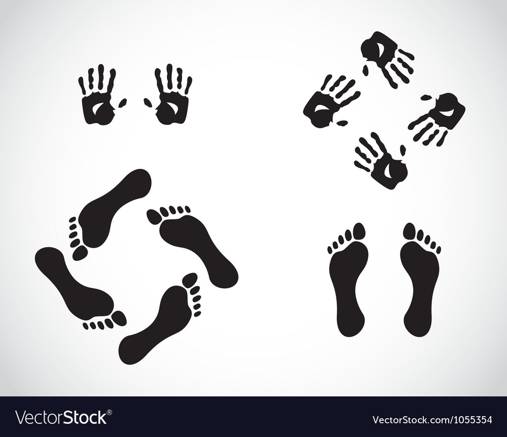 Hand and feet gestures vector