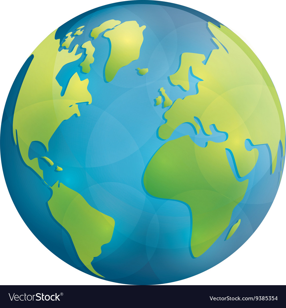 Planet icon earth sphere design graphic vector