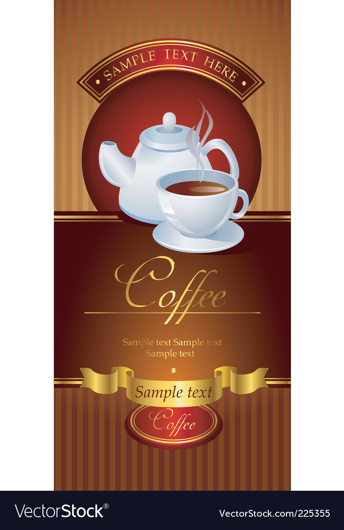 Coffee banner vector