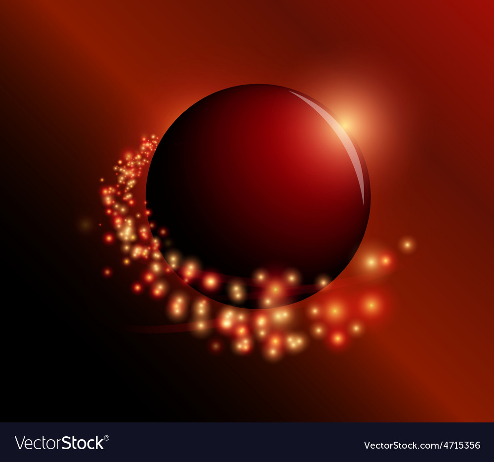Sphere and sparkles vector