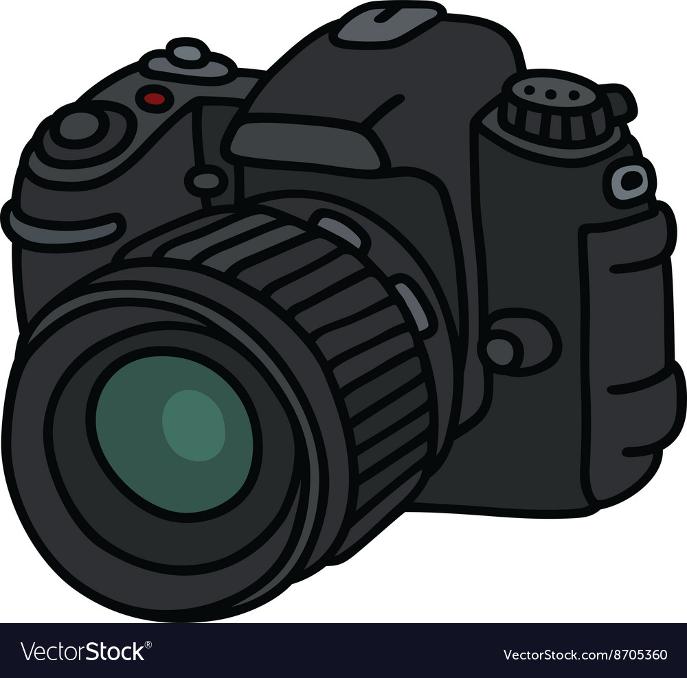 Digital photographic camera vector