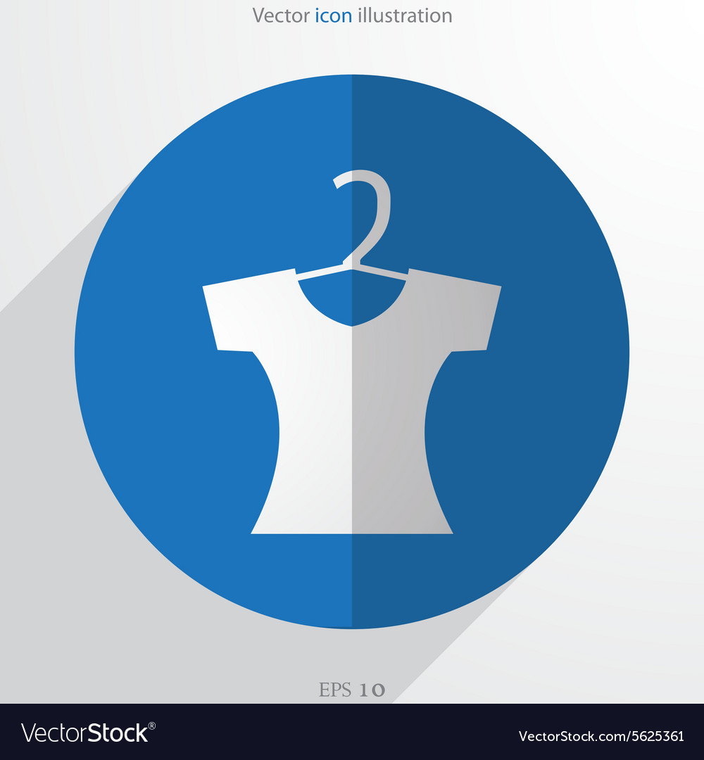 Clothes for women web flat icon vector