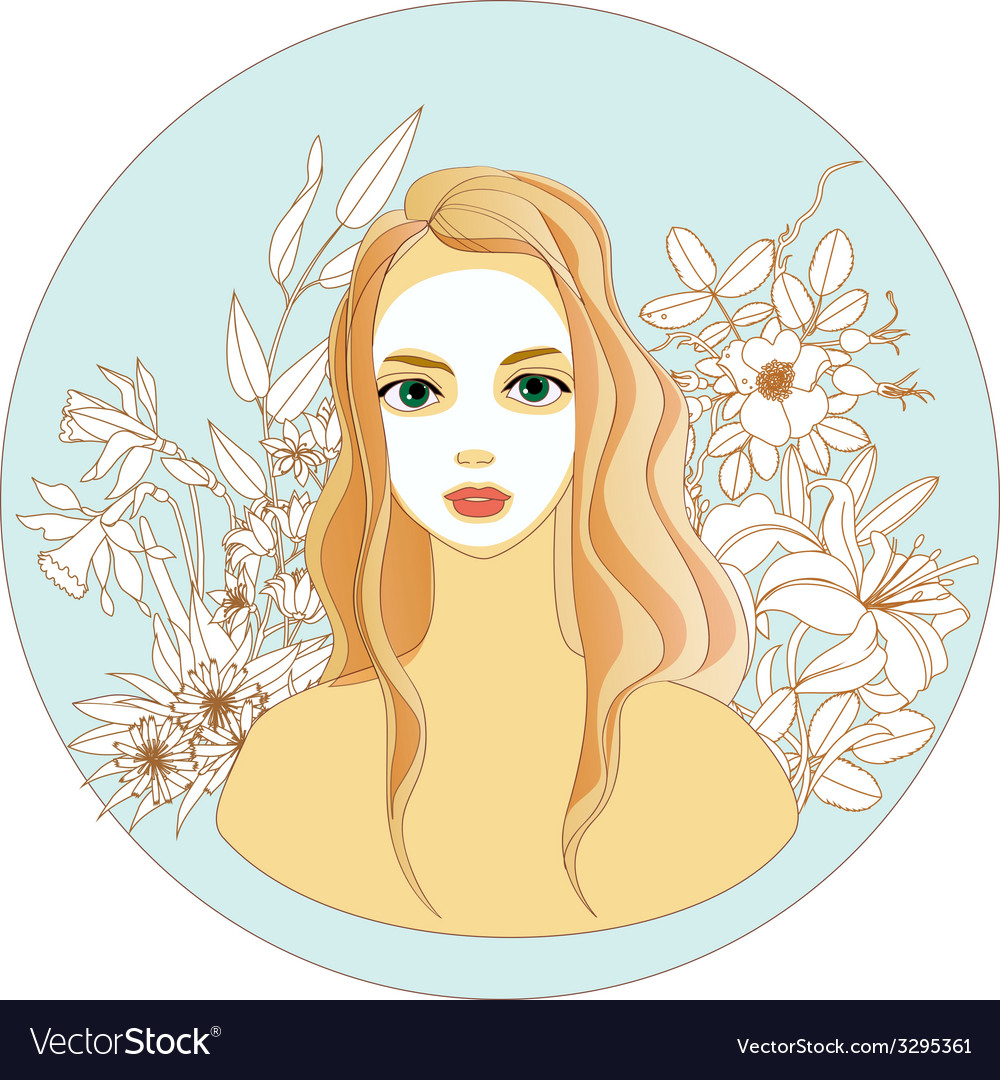 Make your own organic cosmetic vector