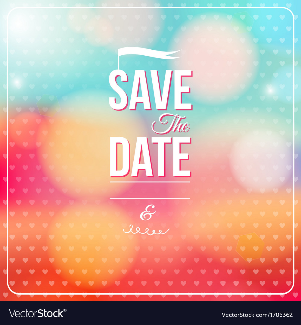 Save the date for personal holiday vector