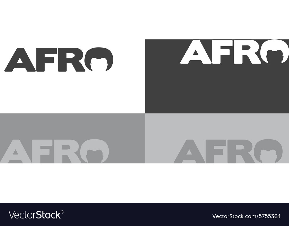 Afro typography logo vector