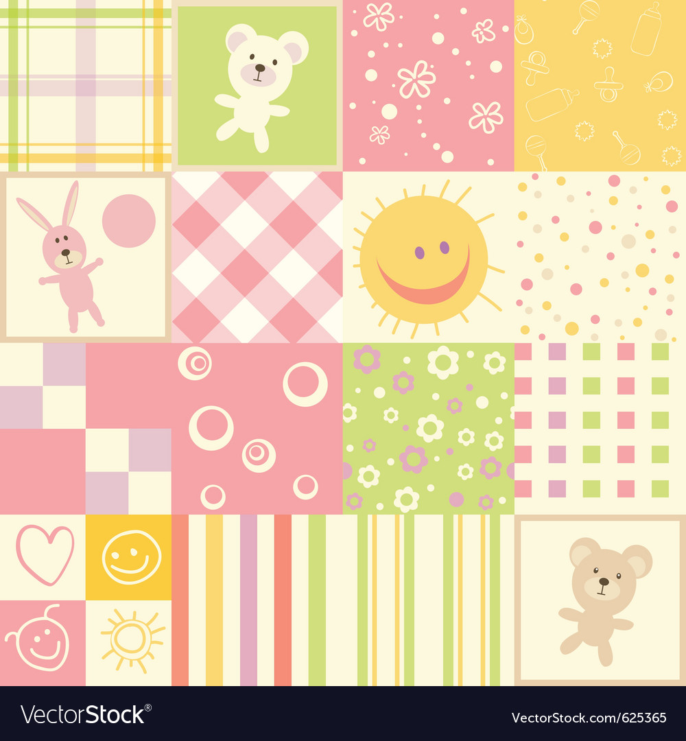 Baby seamless vector