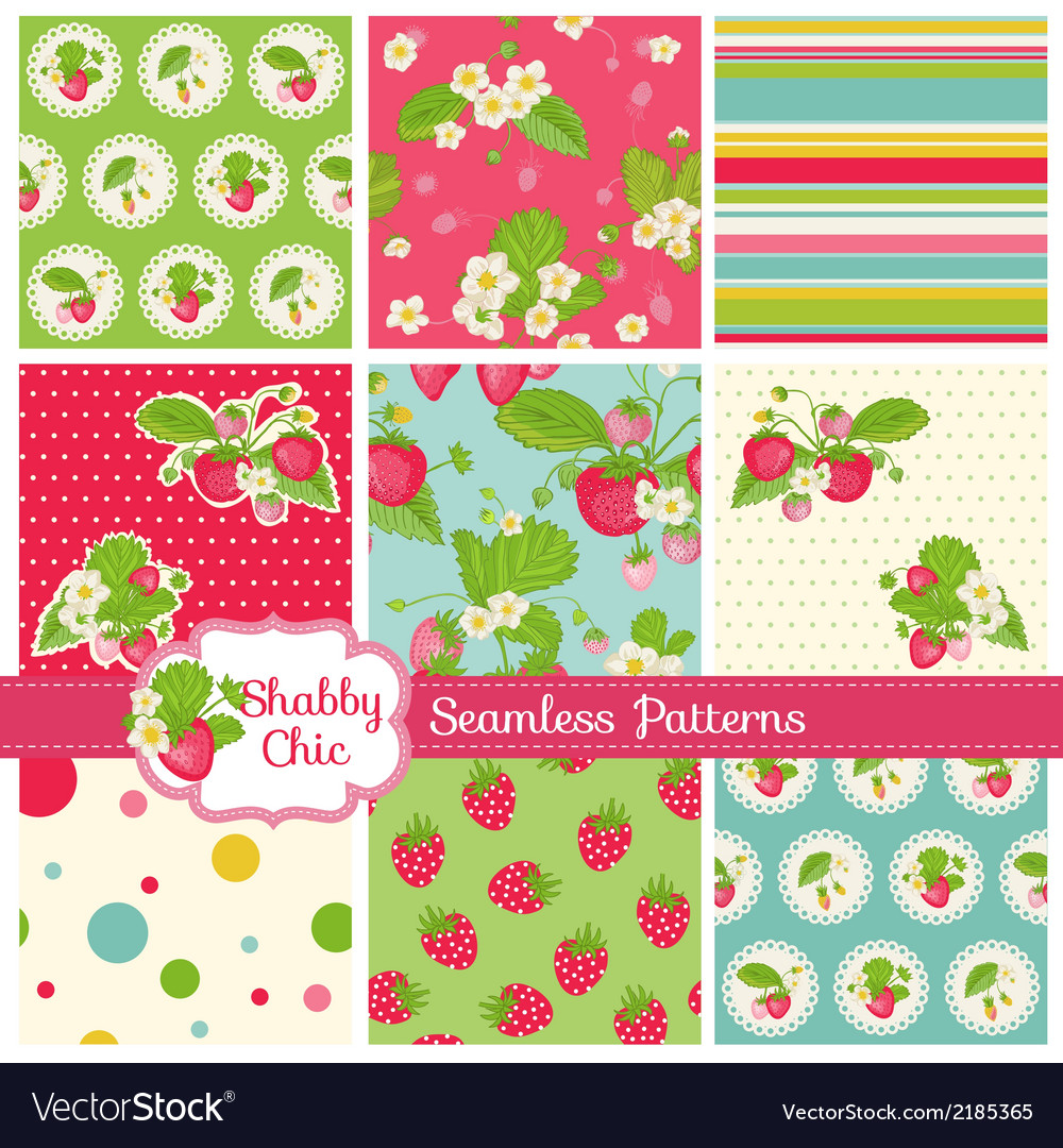 Patterns and backgrounds  strawberry vector