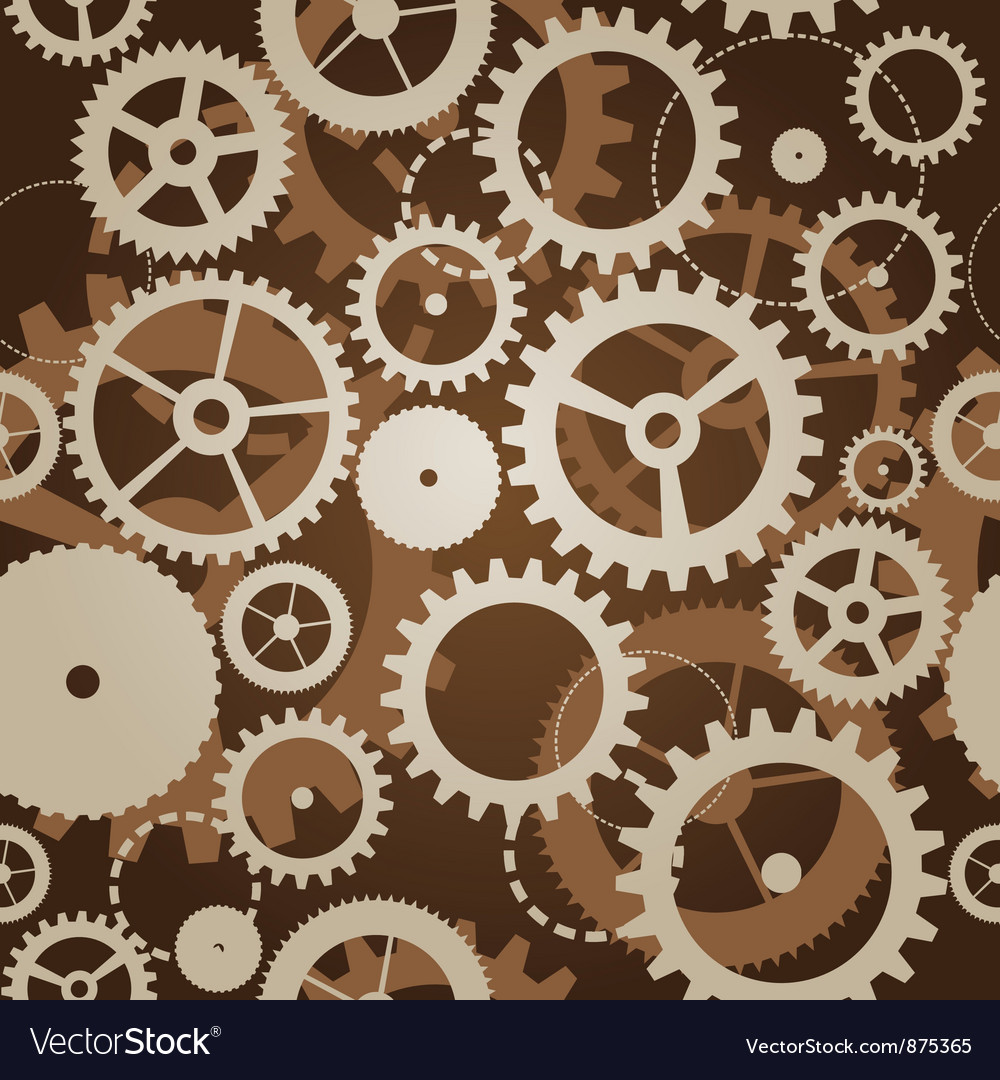Seamless pattern with cogs and gears  vector
