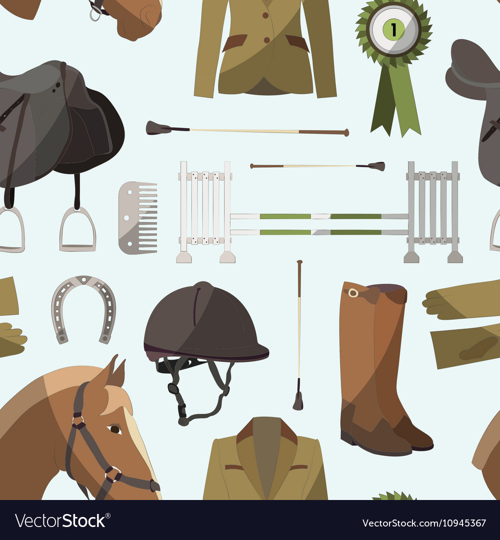 Horse riding pattern vector