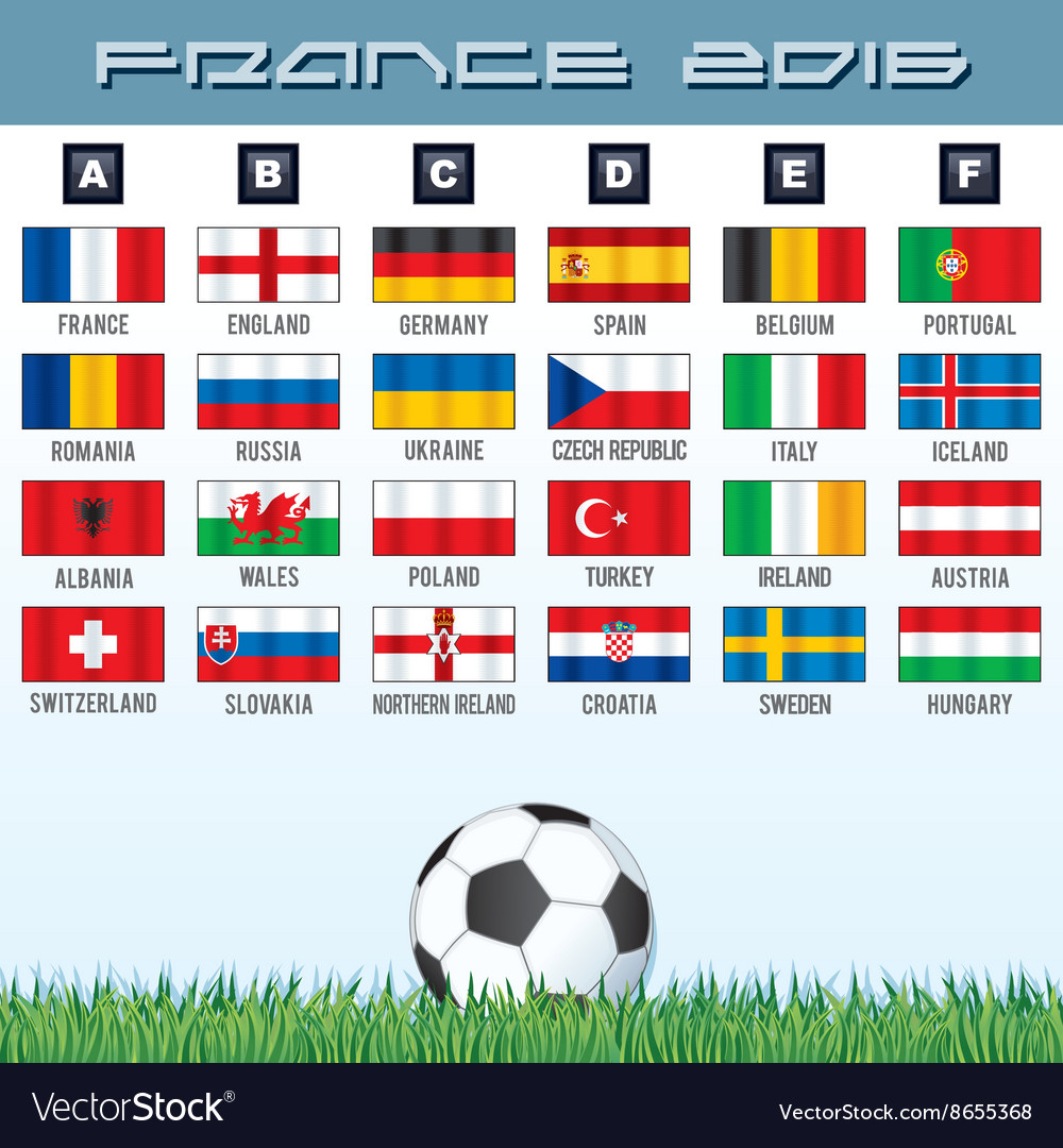 National soccer flags ready for your design vector