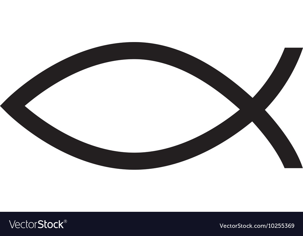 Fish christ religion icon vector