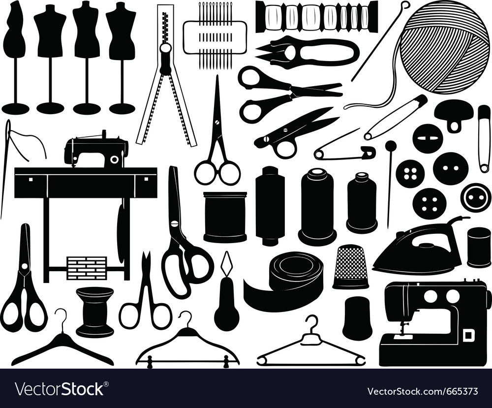 Tailoring equipment vector