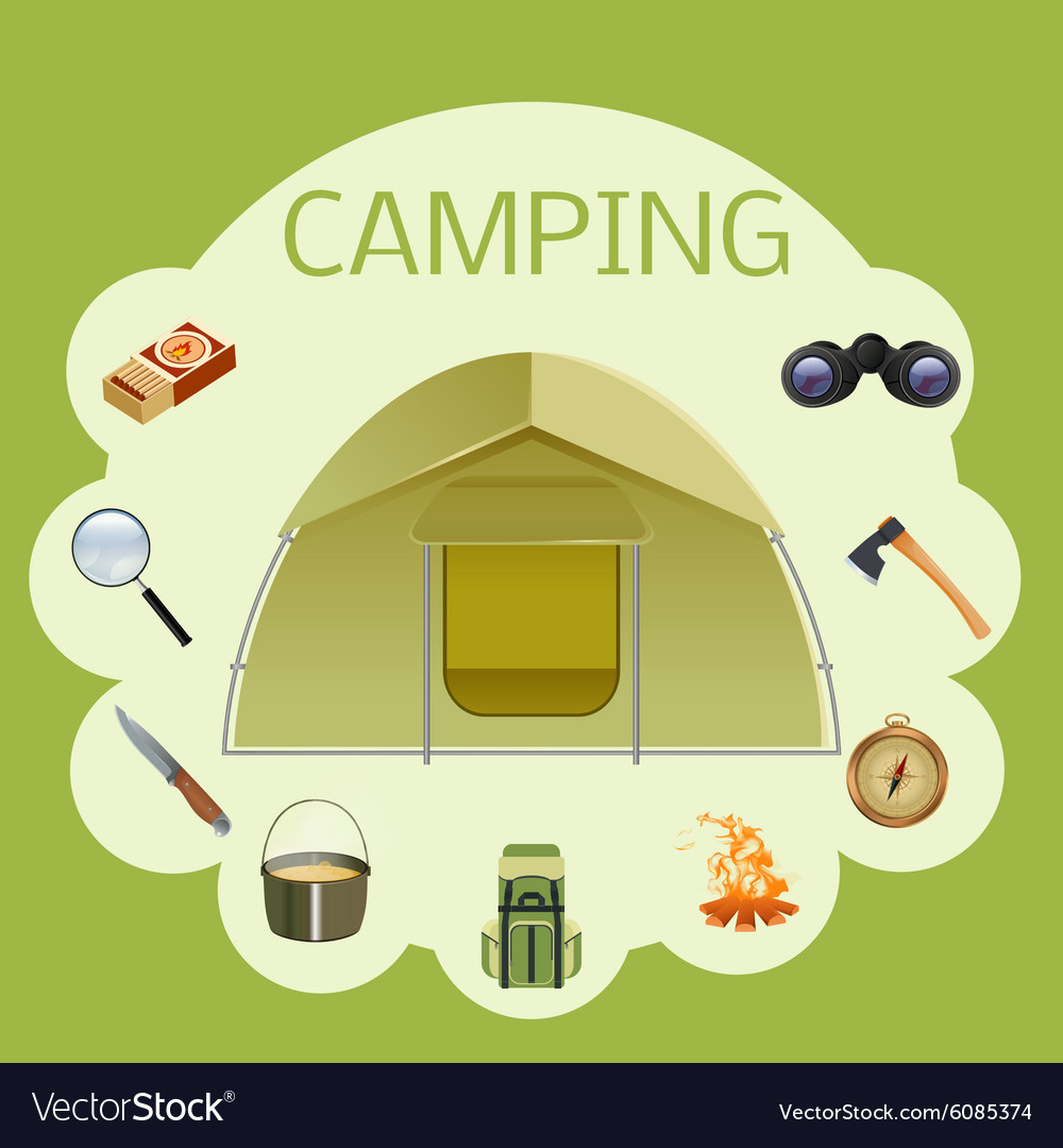 Camping banner vector