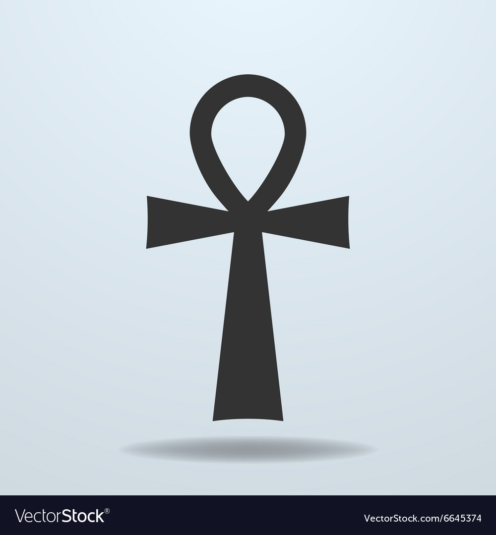 Egyptian cross ankh symbol icon vector