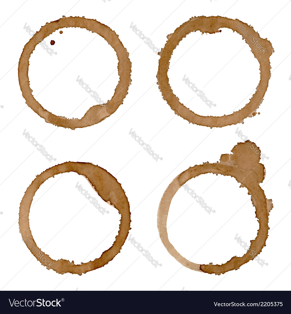 Coffee cup stains set vector