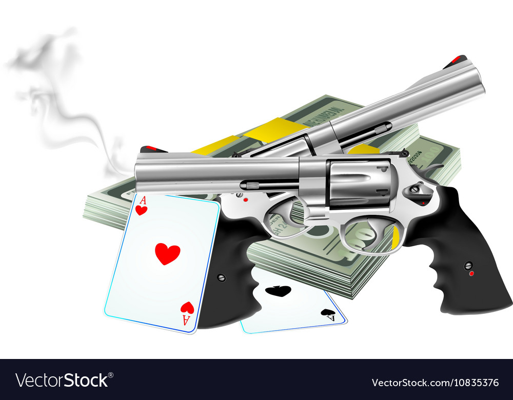 Lock stock and two smoking barrels vector