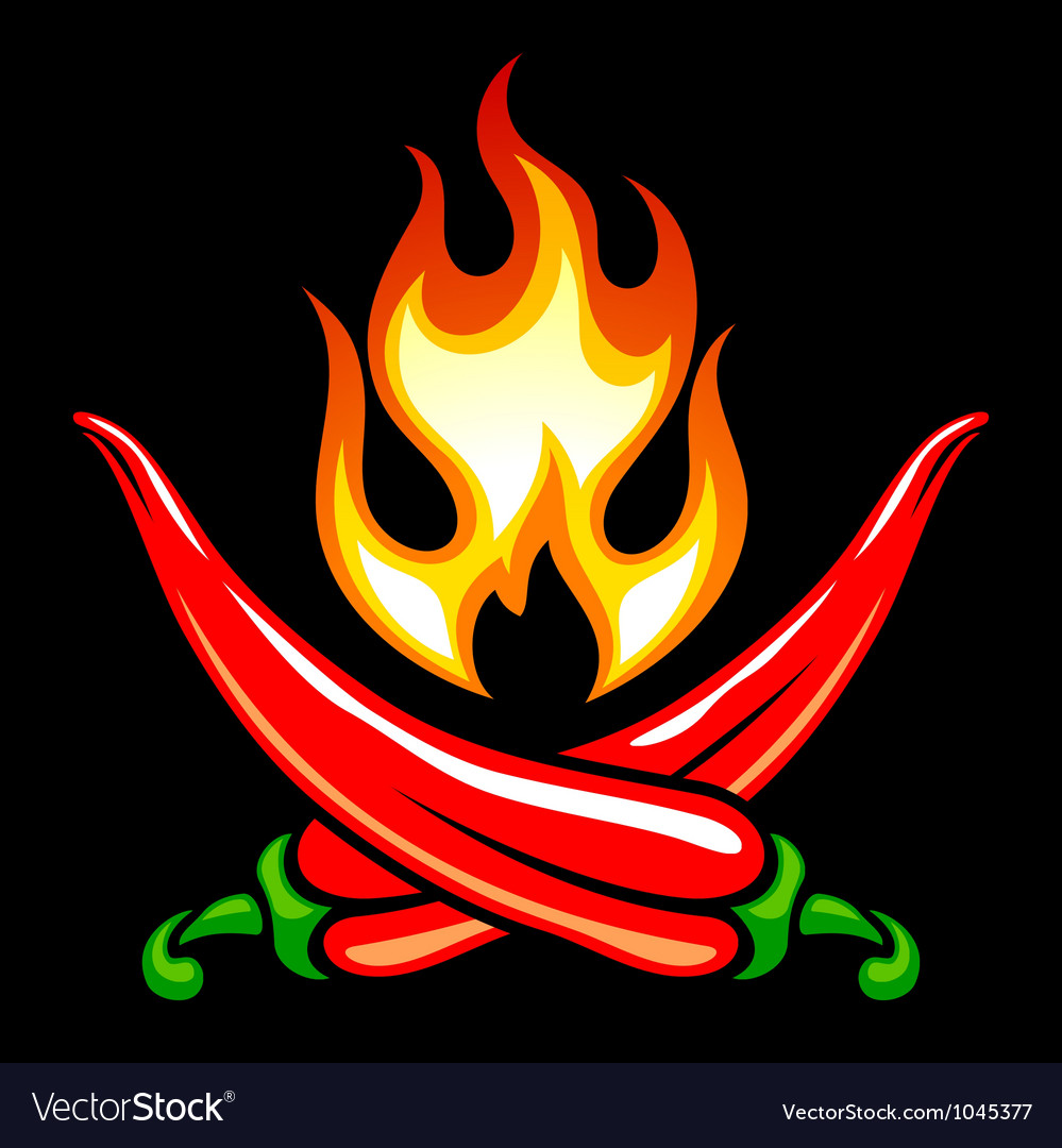 Red hot chilli pepper in the shape of pirate vector