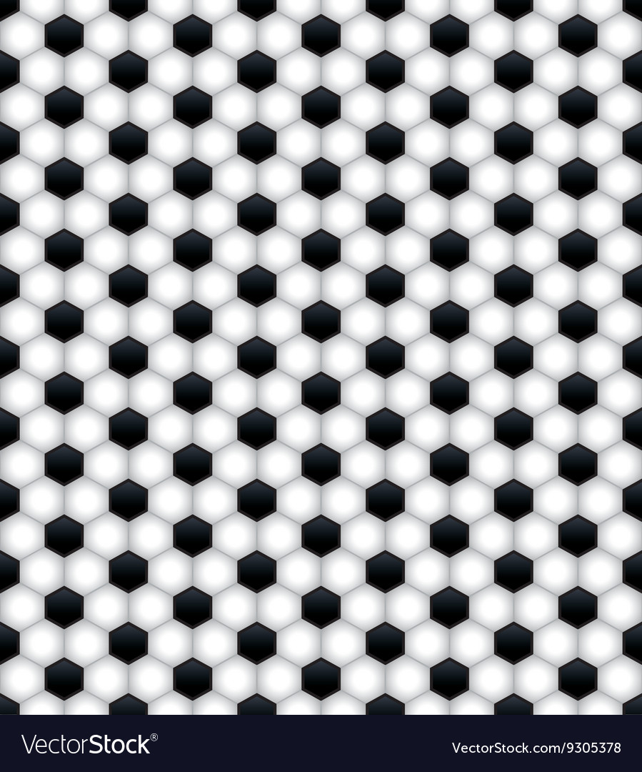 Soccer ball pattern seamless tiled background vector