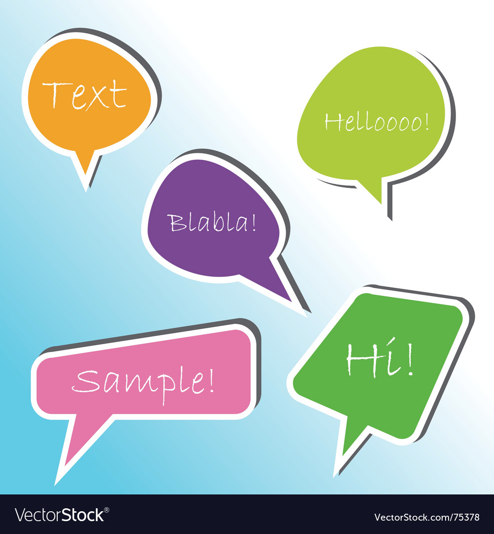 Talk bubbles vector