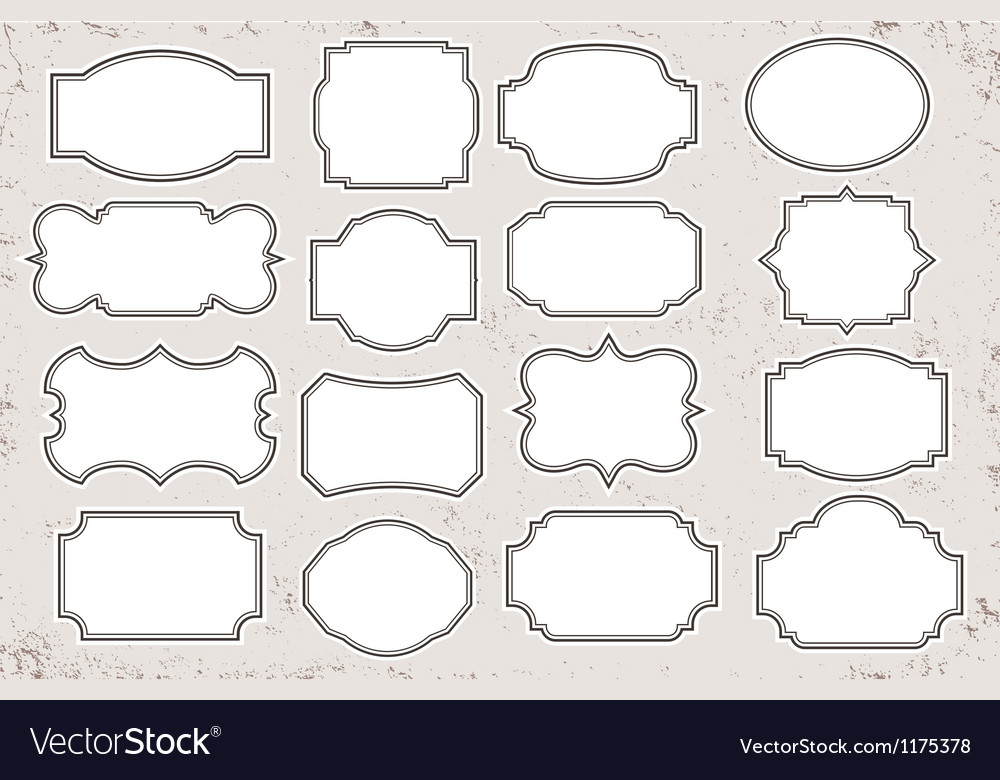 Vintage blank label set vector
