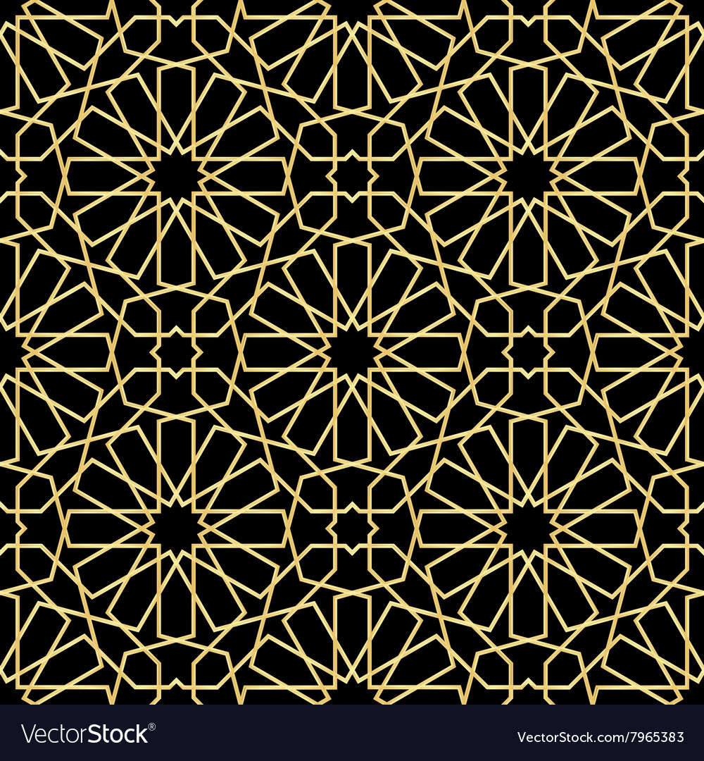 Moroccan gold seamless vector
