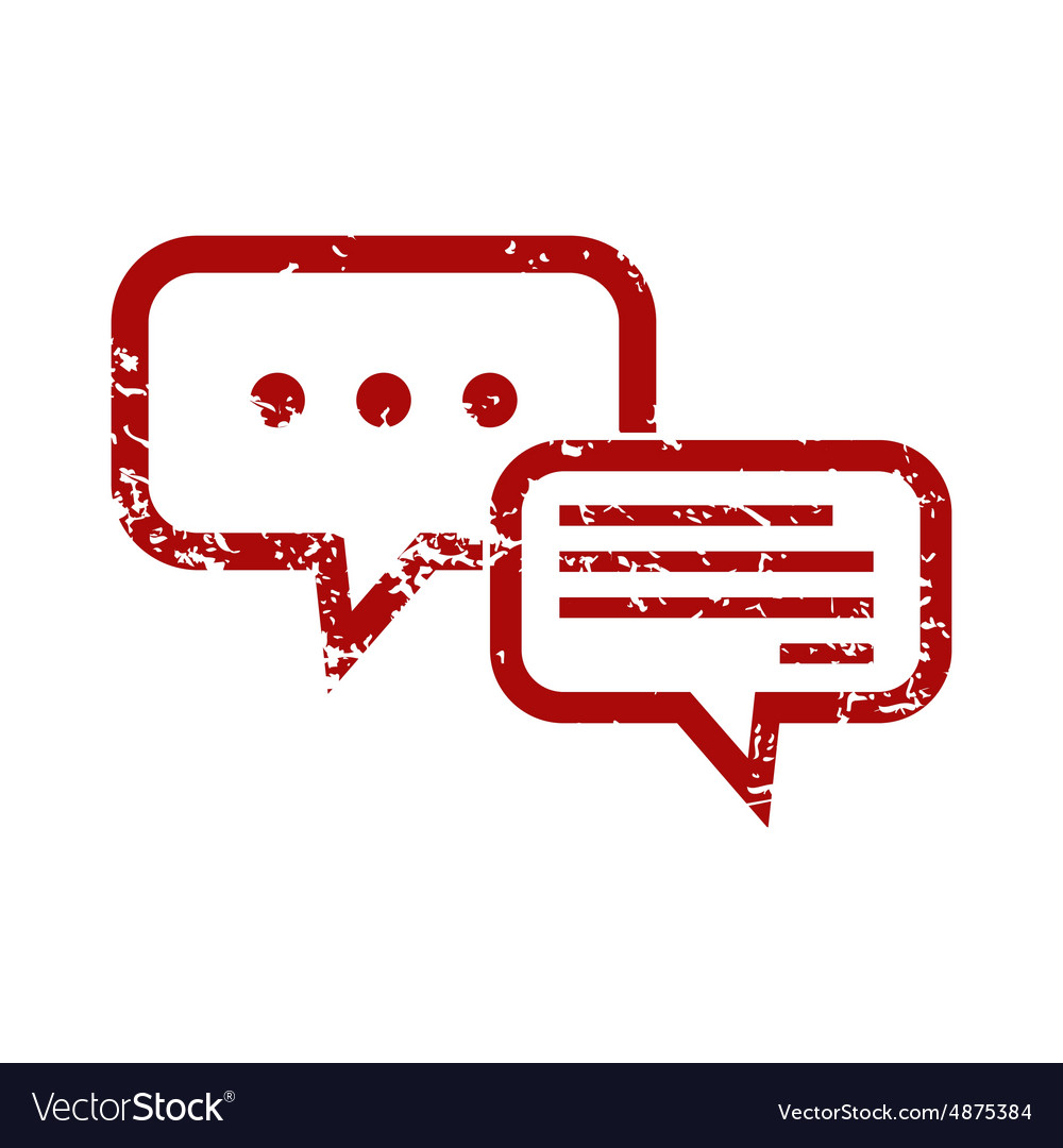 Answering red grunge icon vector