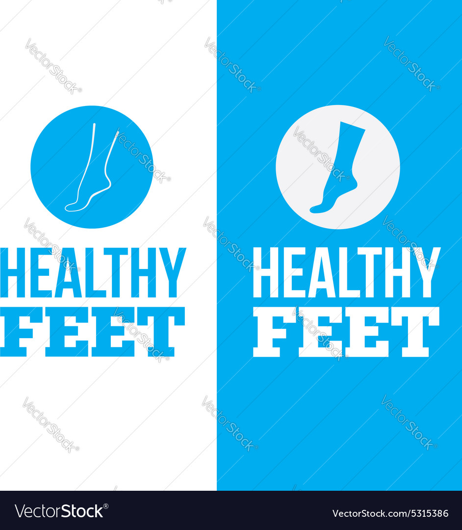 Healthy feet logo concept vector
