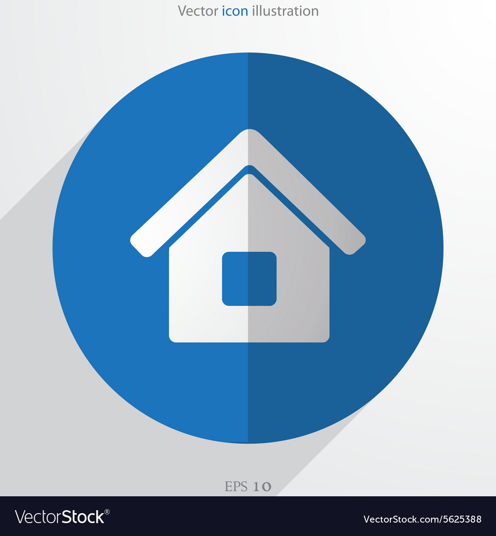 Home web flat icon vector