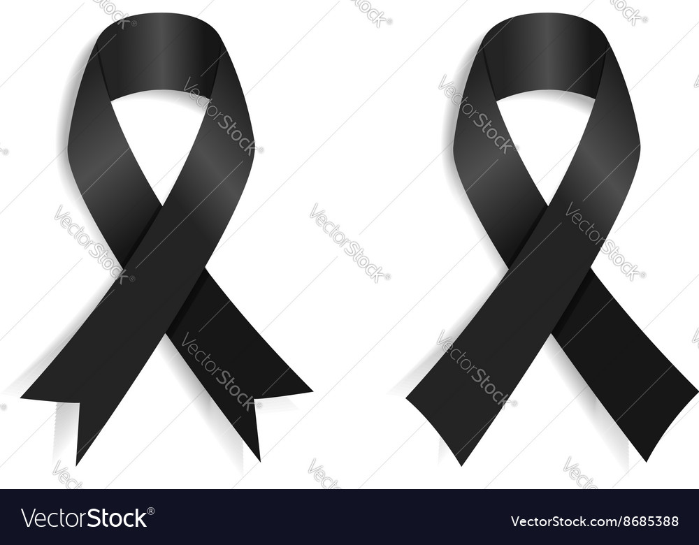 Set of the black ribbon vector
