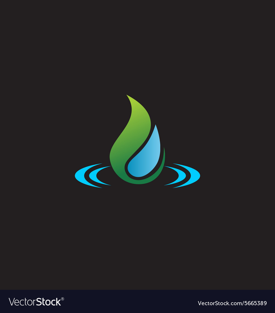 Bio water drop ecology logo vector