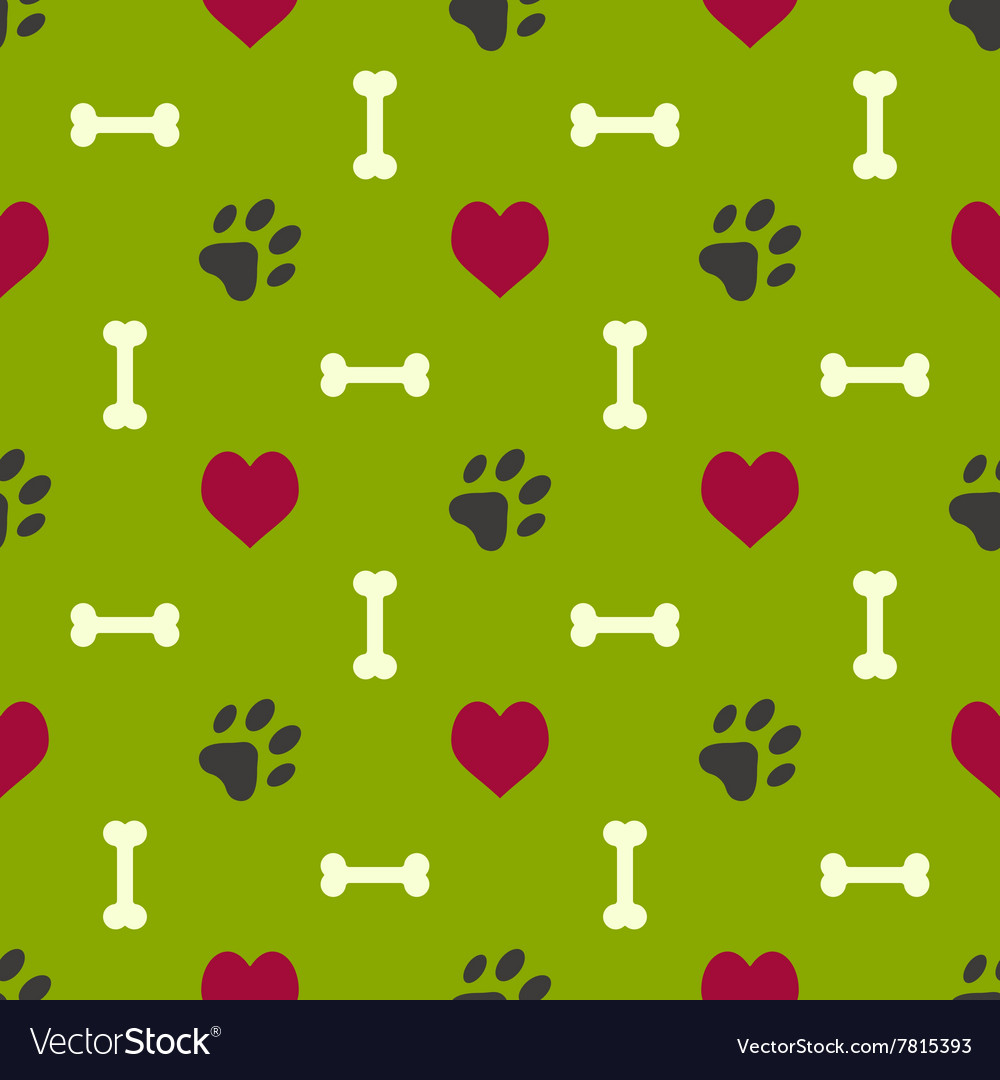 Dog paw pattern vector