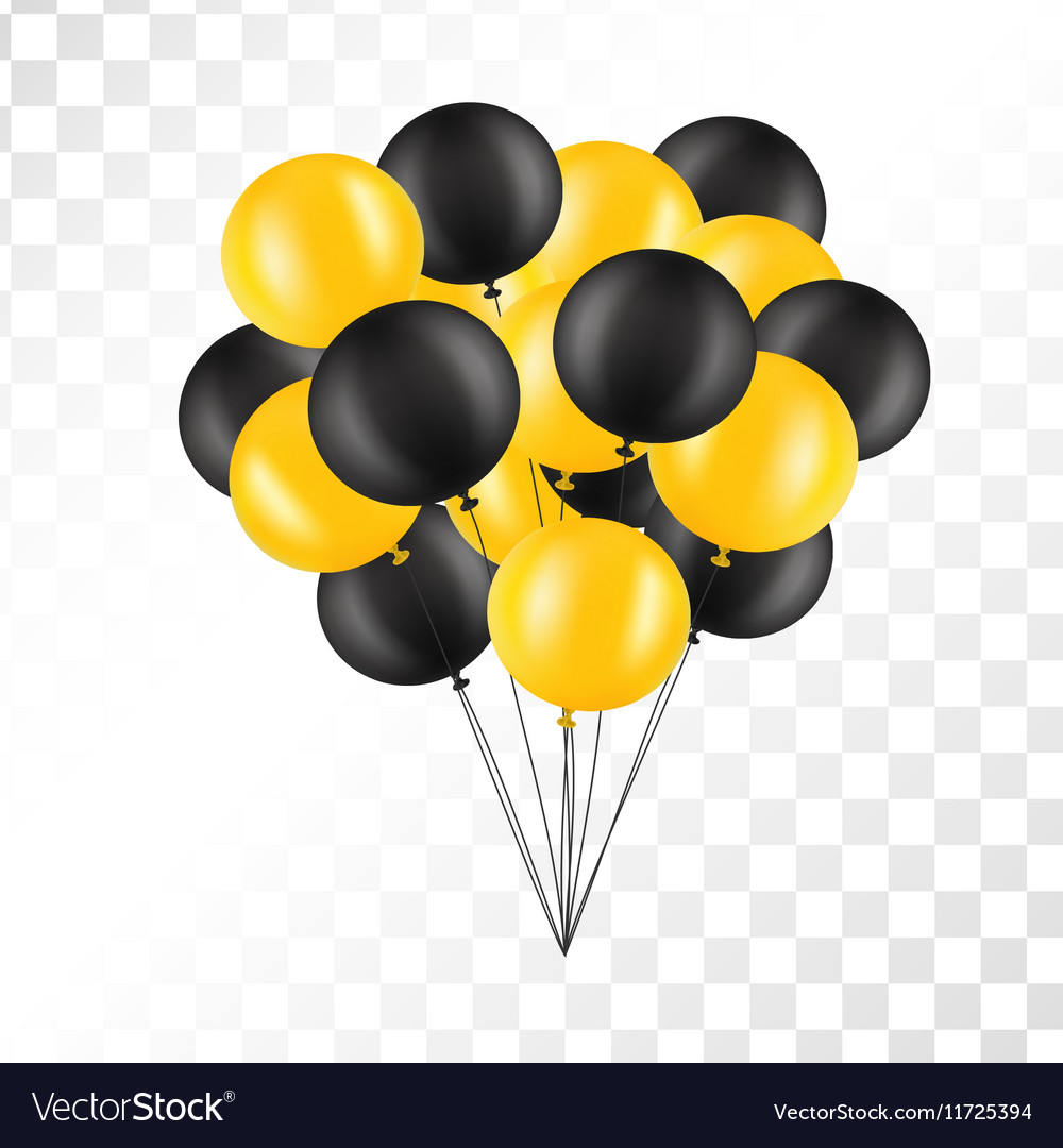 Balloons on transparent background bunch of vector