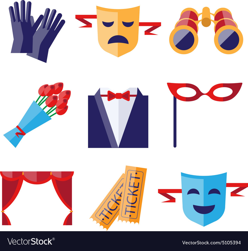 Ter performance decorative icons set vector