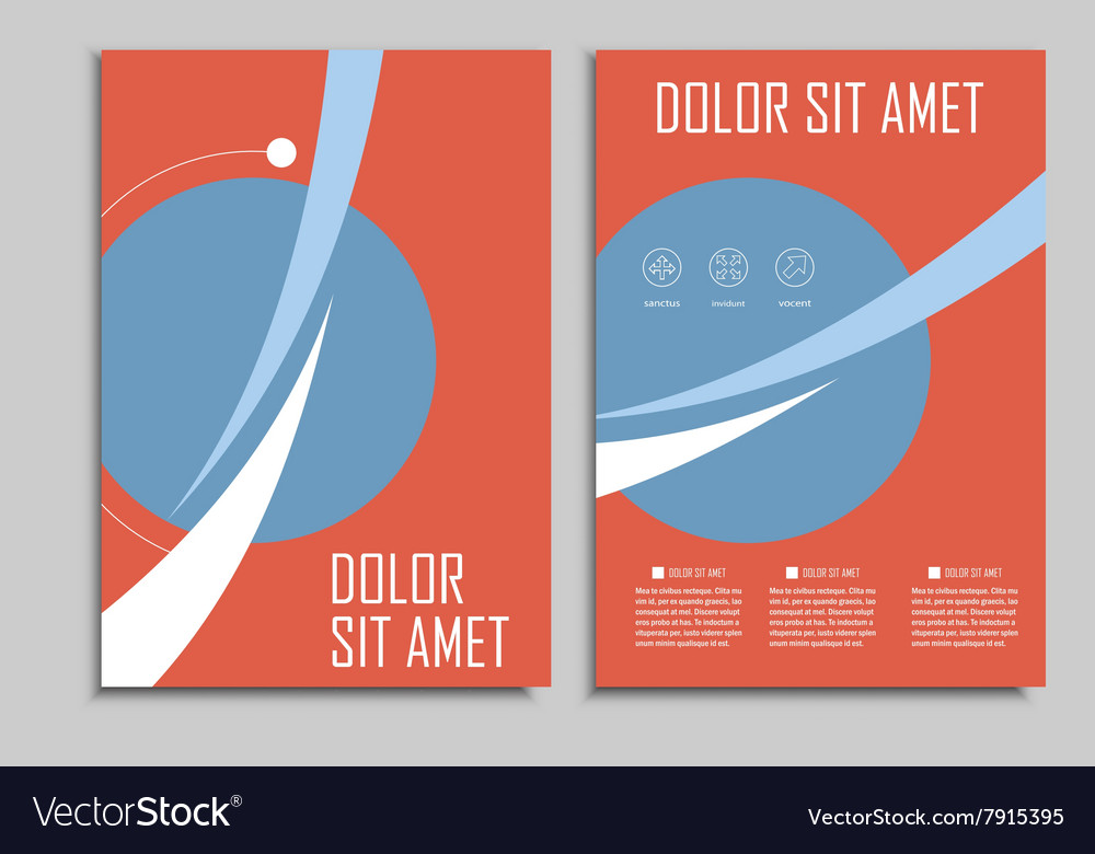 Circle geometric design brochures template vector