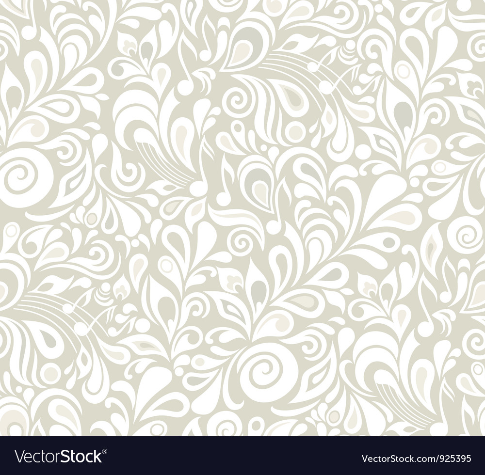 Decorative musical floral theme vector