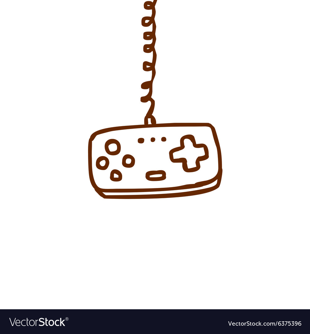 Hand drawn game controller vector