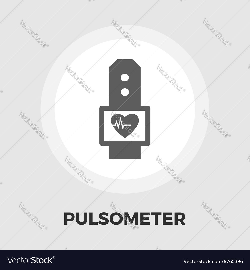 Pulsometer icon flat vector
