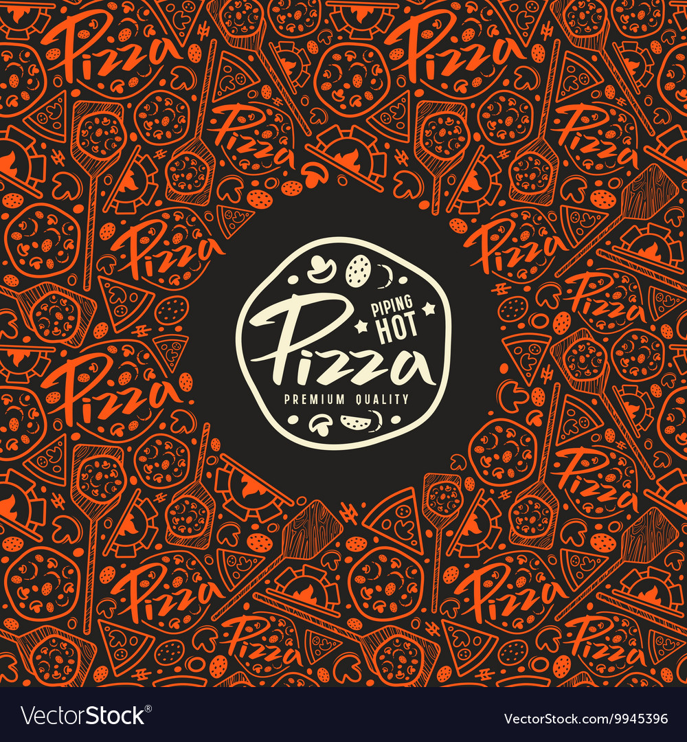 Stock pizza cover for boxes vector