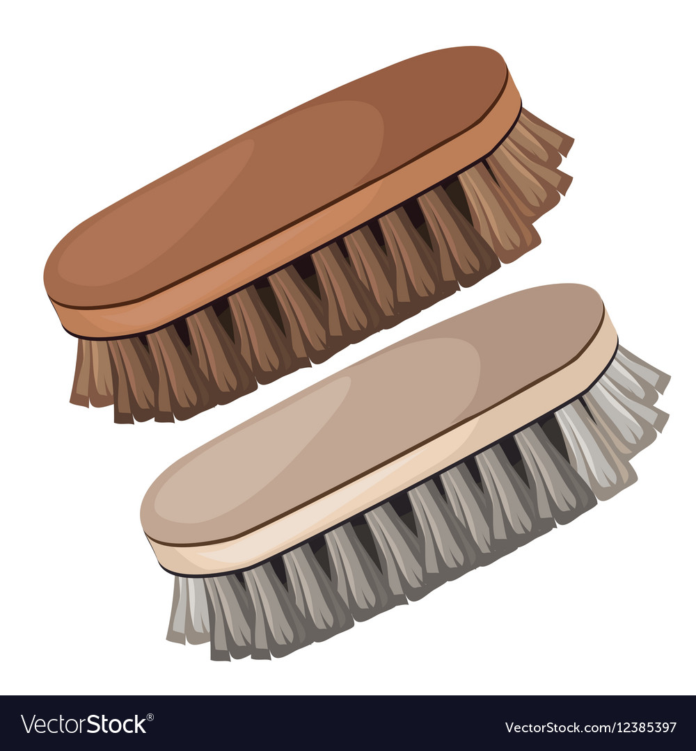 Vintage brush for cleaning shoes and clothes vector