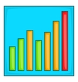 Chart graph icon cartoon style vector image