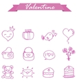 Style icon valentine day collection vector image