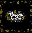 happy easter gold black postcard vector image