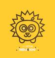 line style hedgehog vector image