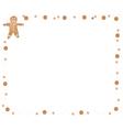 Traditional Christmas Gingerbread Man Frame vector image vector image